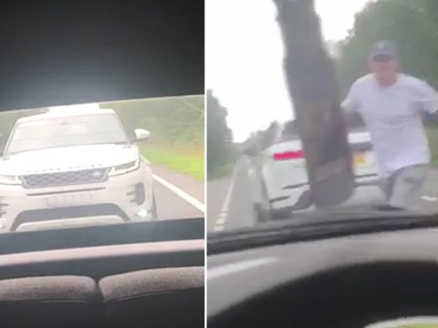 Range Rover driver terrifies mum and daughter as he punches their Mini