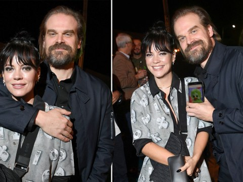 Lily Allen and David Harbour are one cosy couple as Stranger Things star wraps an arm around singer