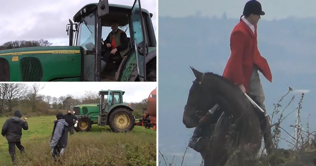 A farmer drove at hunt saboteurs who said they were monitoring a nearby hunt to make sure no foxes were being used (Picture: Sheffield Hunt Saboteurs)