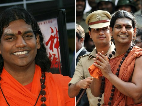 Indian guru accused of rape emerges from hiding to announce new 'cosmic country'