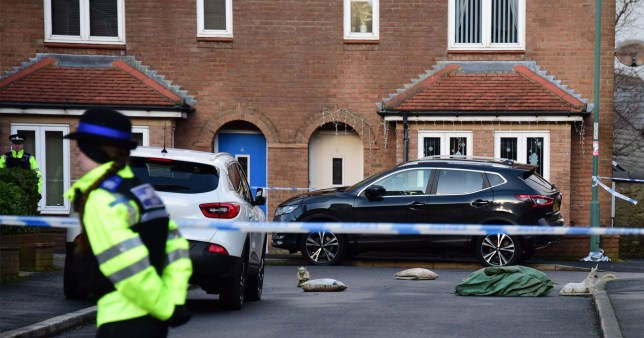 Police cordon off the scene at Southernwood, in Consett County Durham, this morning following a man's death (Picture: North News)