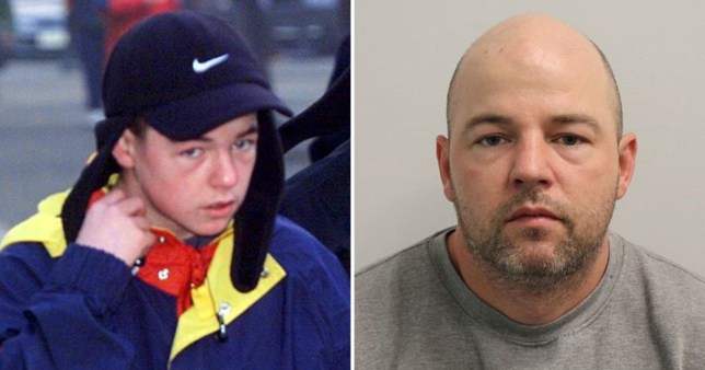 Picture of serial rapist Joseph McCann at 14 years old and him in 2019 after being arrested following a two week rampage