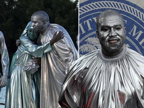 Kanye West is a bizarrely silver fox for brand new bible-inspired opera Mary