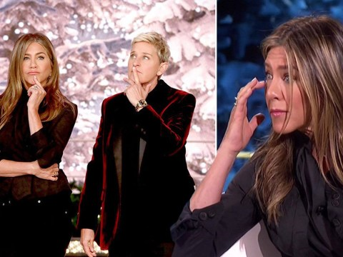Jennifer Aniston breaks down in tears while helping a family in need on The Ellen Show