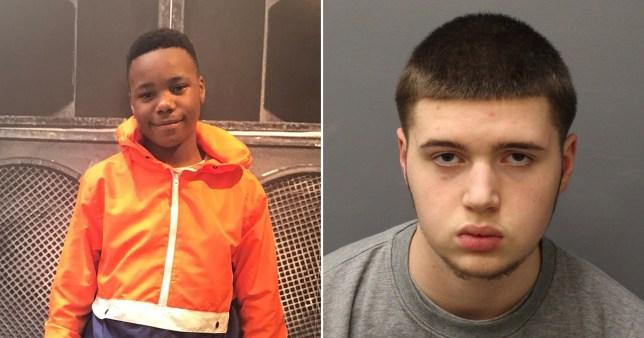 Ayoub Majdouline (right) has been found guilty of the murder of schoolboy Jaden Moodie