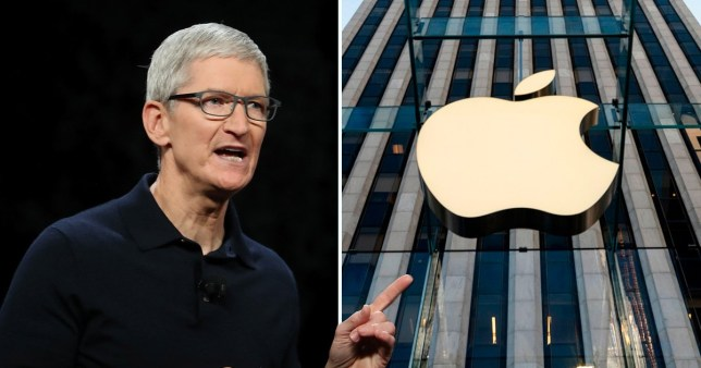 Apple, whose CEO is Tim Cook, was replaced by Aramco, within the fist few moments the latter was on the stock market (Picture: Getty)