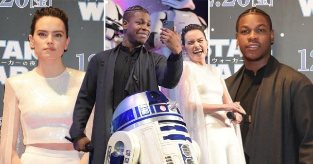 Daisy Ridley and John Boyega
