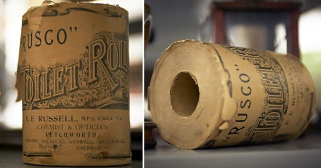 Toilet roll manufactured in 1936 by EE Russell which won the 2019 Hertfordshire Association of Museums Object of the Year award.