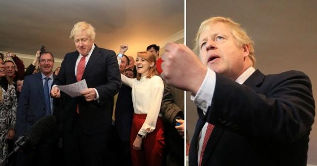 Boris Johnson visits supporters at Sedgefield Cricket Club, County Durham