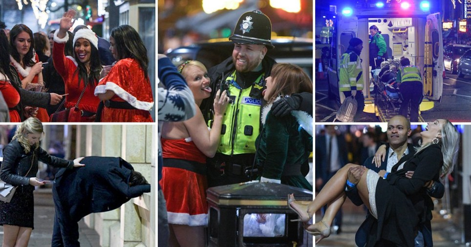 Festive revellers hits streets of Birmingham as boozy Christmas party season begins