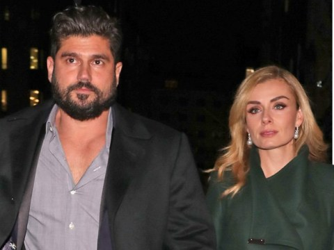 Katherine Jenkins puts on a brave face for a night out with the husband after vicious mugging