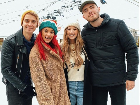 Strictly's Joe Sugg and Dianne Buswell enjoy family Christmas with Zoe Sugg and Alfie Deyes before jetting to Australia