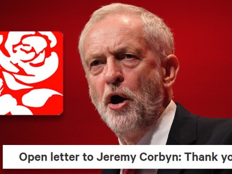 Thousands sign open letter to Jeremy Corbyn to say 'thank you'
