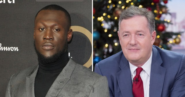 Stormzy and Piers Morgan