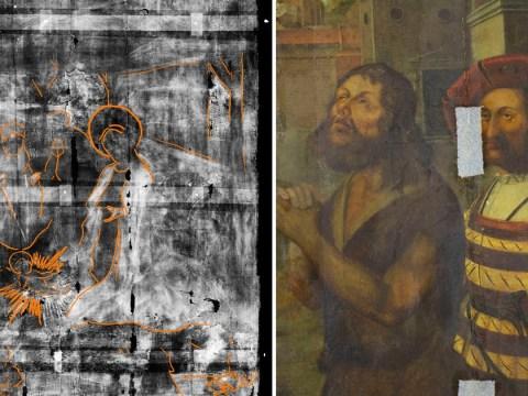 Secret 16th century painting hidden behind 400-year-old artwork