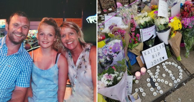 Parents of schoolgirl Katelyn Dawson who died in crash at bus stop are in court charged with harassing the driver