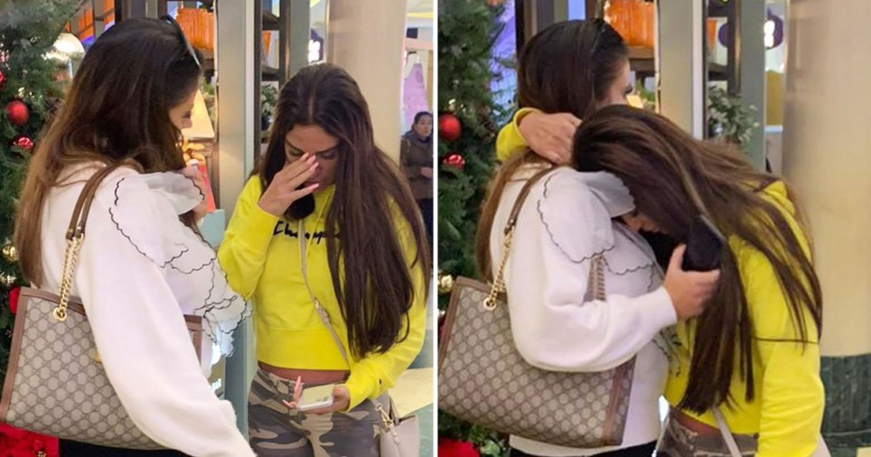 Katie Price looked visibly upset before having lunch with a friend