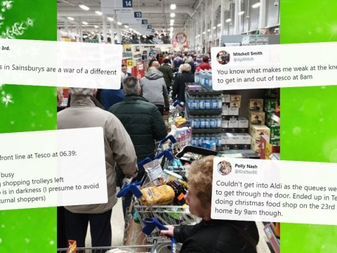 Chaos in supermarkets as customers queue for last-minute food shops