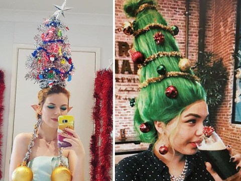 'Tis the season to decorate your hair like a Christmas tree