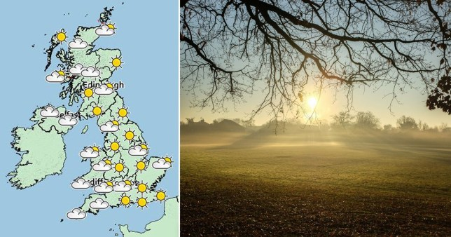 Christmas Day weather forecast