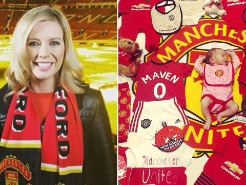 Rachel Riley is already making sure newborn daughter is a Manchester United fan