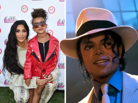 Kim Kardashian gifts daughter North, six, Michael Jackson's Smooth Criminal hat on top of extortionate $65,000 jacket