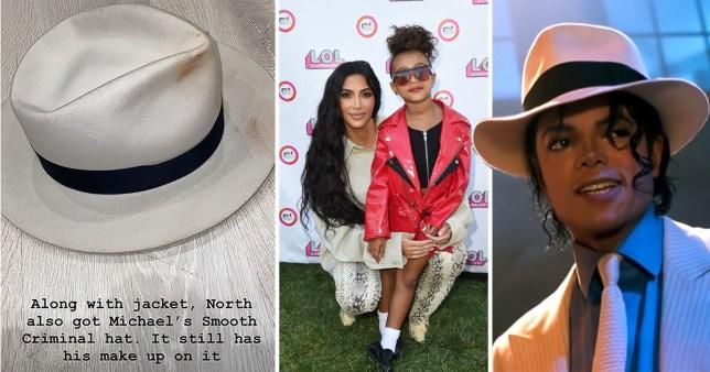 Michael Jackson, his hat, Kim Kardashian and North West