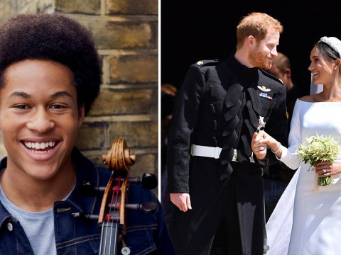 Harry and Meghan's wedding cellist receives MBE at age 20