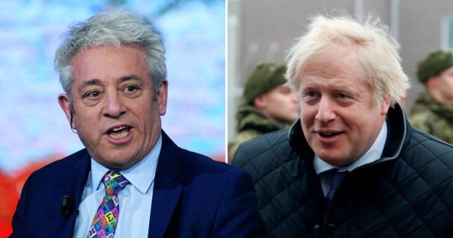 John Bercow (left) and Boris Johnson (right)