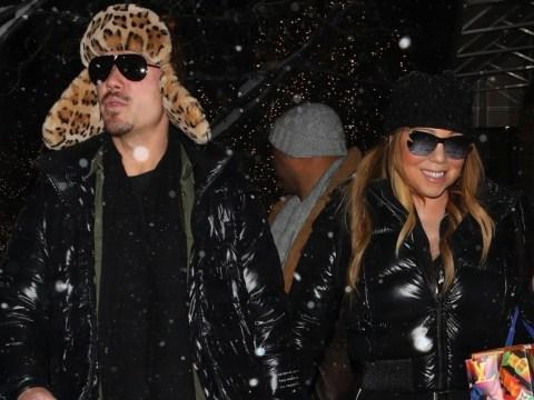 Mariah Carey braves the snow as she embarks on post-Christmas shopping trip with boyfriend Bryan Tanaka