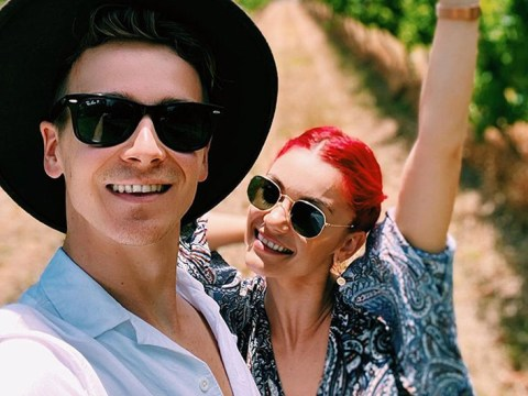 Dianne Buswell and boyfriend Joe Sugg go wine-tasting to take mind off grandfather's death