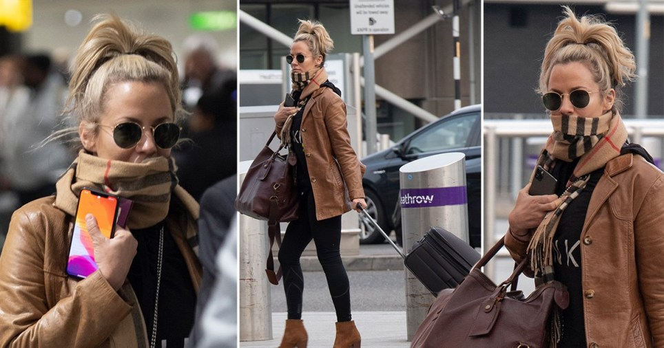 Love Island's Caroline Flack arriving at the airport