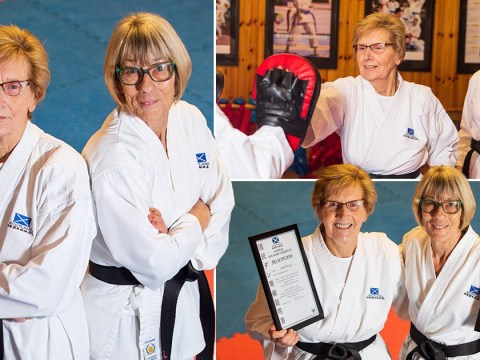 Pensioner pals take up karate and end up with black belts