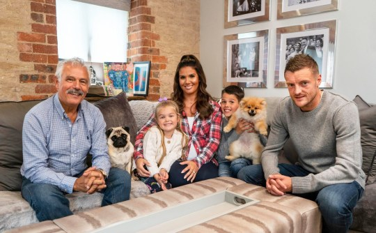 "Mandatory Credit: Photo by ITV/REX (10476044c) Leicester City striker Jamie Vardy (far right) with his game loving family wife Rebekah Vardy (centre) father-in-law Carlos 4yrs Sophia and 9yrs Taylor 'How To Spend Well At Christmas' TV show, Series 3, Episode 2, UK - 03 Dec 2019 How To Spend It Well At Christmas is an ITV consumer advice programme, presented by Phillip Schofield, in which celebrity guests, experts and members of the public to help him test the latest must-have festive gifts. In this episode the latest ""must haves"" gifts are rated, with the picks of the best toys this Christmas and Phillip is joined by Leicester City striker Jamie Vardy and wife Rebekah Vardy, along with 5 other families, to test the latest board games that are all up against the clock."