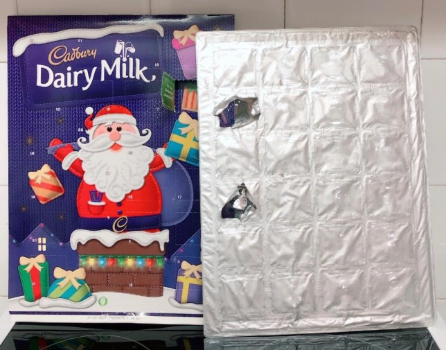 Distraught kids find no chocolate behind windows in Cadburys advent calendars