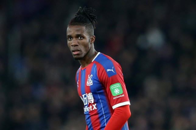 Crystal Palace forward Wilfried Zaha is on Chelsea's transfer shortlist