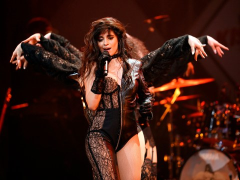 Camila Cabello gives us two for the price of one as she sports an unusual ensemble for the Jingle Ball