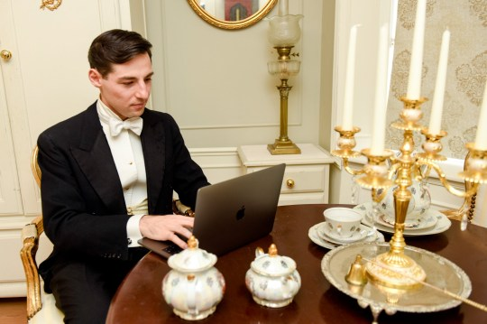 Michael Koropisz, 24, much prefers living in the Victorian era