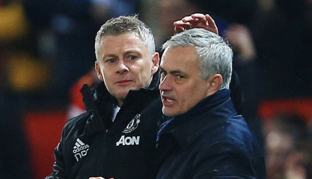 Ole Gunnar Solskjaer exchanged words with Jose Mourinho after Manchester United's win over Tottenham