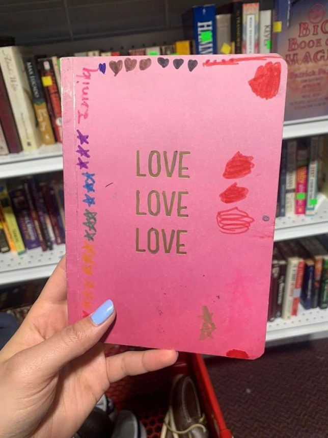 Charity shopper at Goodwill finds 'poop diary' where child records their bowel movements