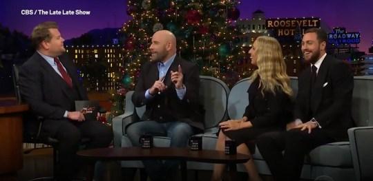 John Travolta on The Late Late Show