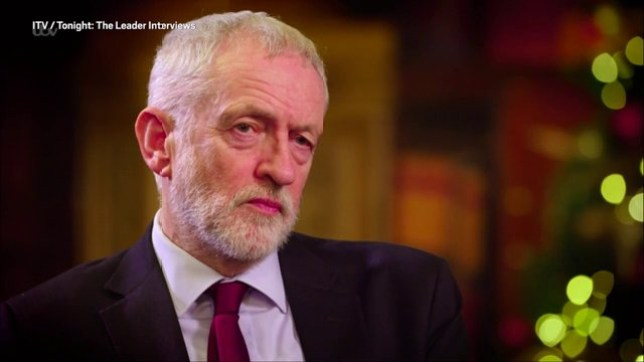 CORBYN ON ITV 7.30pm Picture: ITV METROGRAB