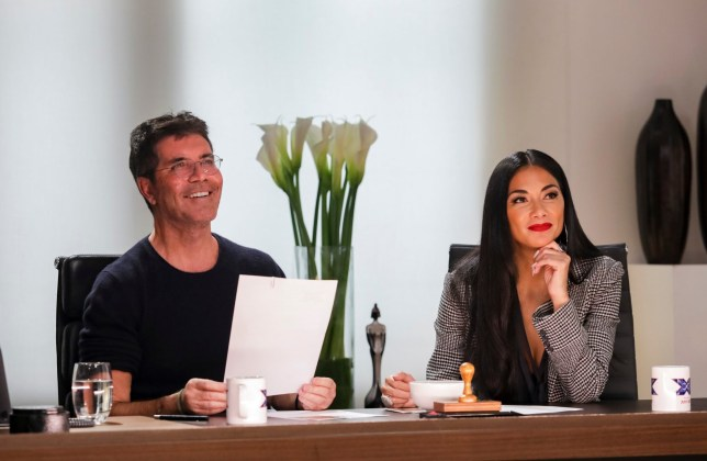 Simon Cowell and Nicole Scherzinger on X Factor: The Band
