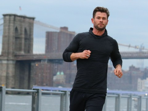 Chris Hemsworth goes for casual jog in New York City winter and doesn't look freezing at all