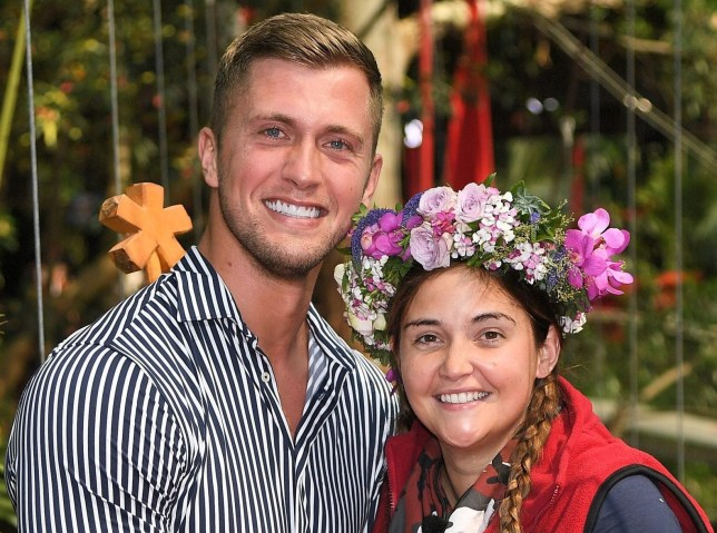 Premium Rates Apply. Contact your account manager for pricing. Editorial use only Mandatory Credit: Photo by ITV/REX (10494678af) Jacqueline is crowned Queen of the Jungle and is greeted by husband Dan Osborne 'I'm a Celebrity... Get Me Out of Here!' TV Show, Series 19, Australia - 08 Dec 2019