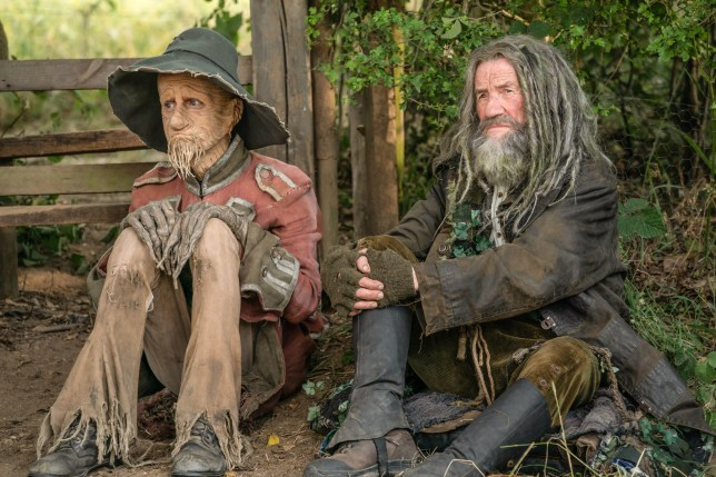 michael palin and Mackenzie Crook in worzel gummidge