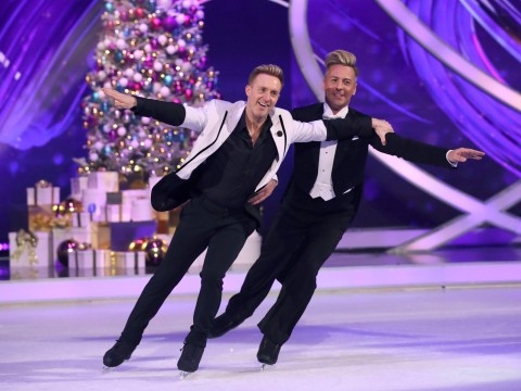 Dancing On Ice's first same-sex couple Ian 'H' Watkins and Matt Evers can't do lifts for 'anatomical' reasons