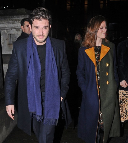 Game Of Thrones Kit Harington And Rose Leslie Festive For Public Appearance Metro News