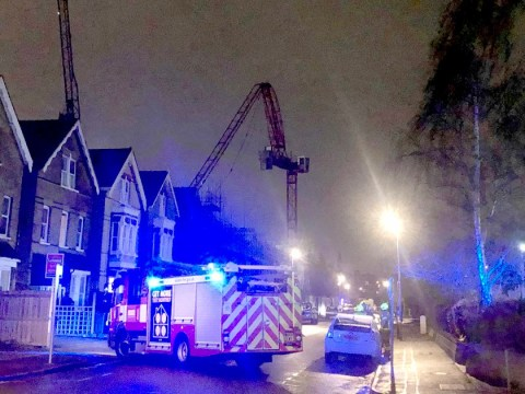 Crane collapses in south London as gales batter Britain