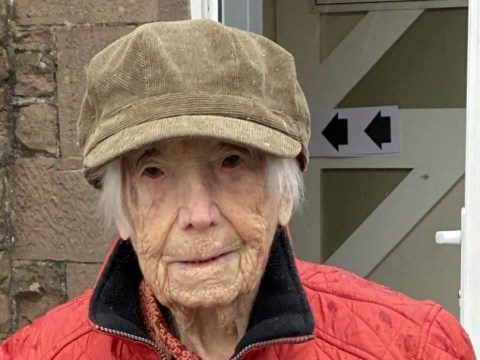 108-year-old woman won't let atrocious weather stop her voting